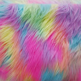 Rainbow Pastel Faux Fur