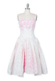 White Lace Dress With Hot Pink Stain