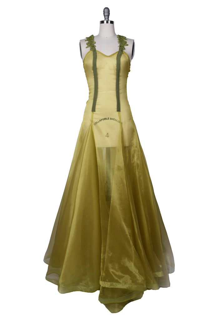 Chartreuse Sheer Gown