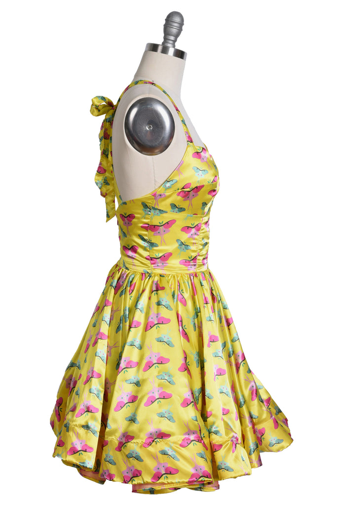 Short Yellow Moth Dress