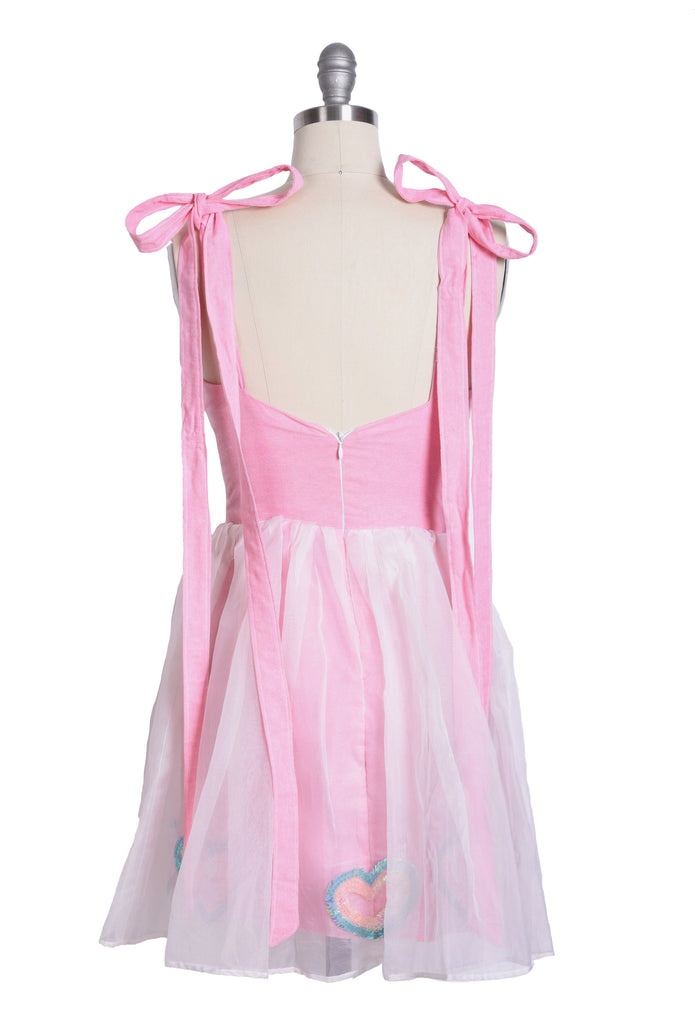 Pink Dress with Heart Embellishments