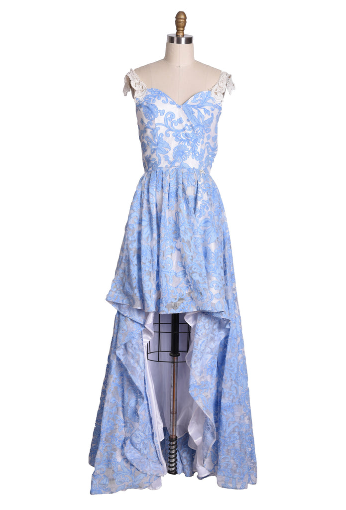 Blue Lace Hi-Low Gown