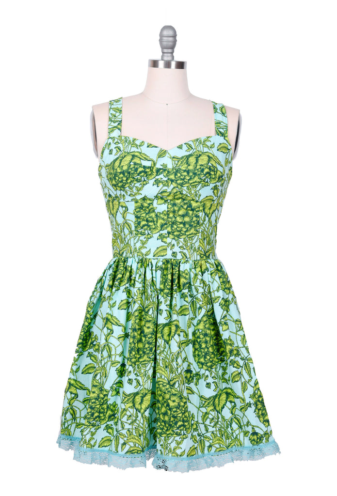 Green and Blue Floral Dress