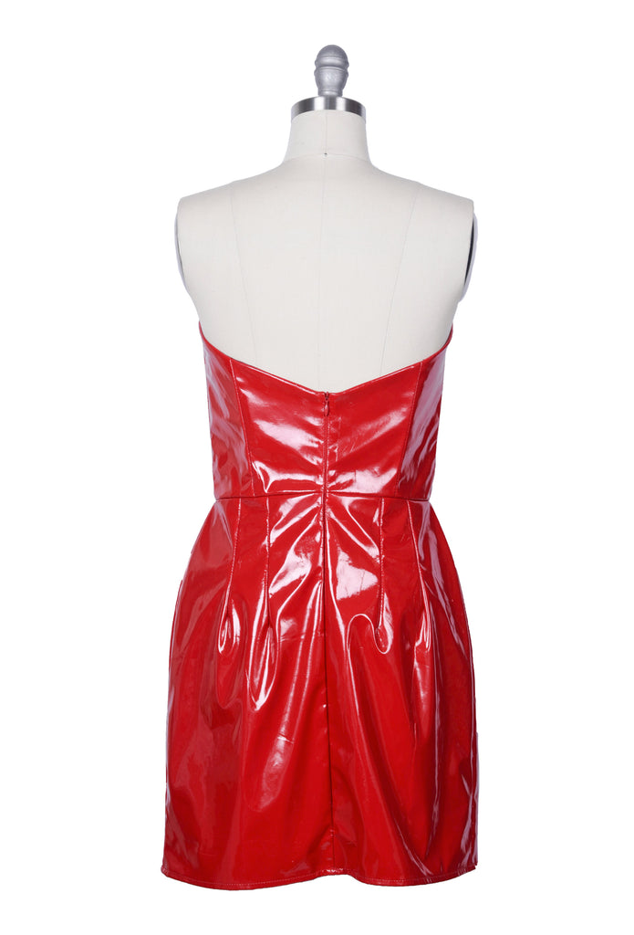 Short Red Vinyl Dress