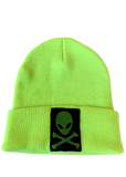 Metallic Alien High Visibility Yellow Beanie