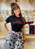 Sew Anastasia Embroidered Black T-shirt