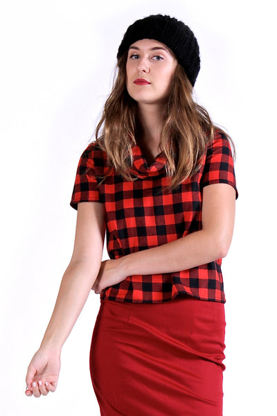 Buffalo Plaid Cowlneck