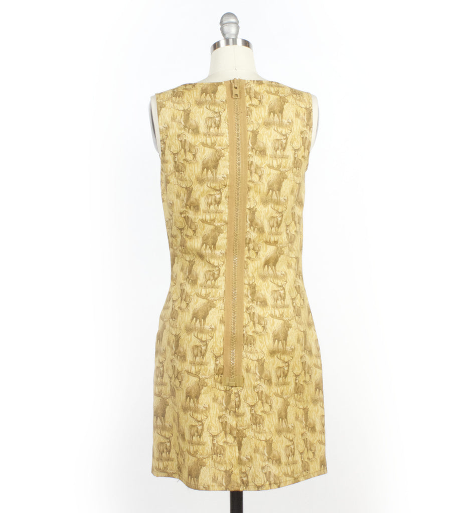 Deer Print Sheath Dress LAST ONE