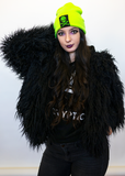 Black Faux Fur Wolf Jacket