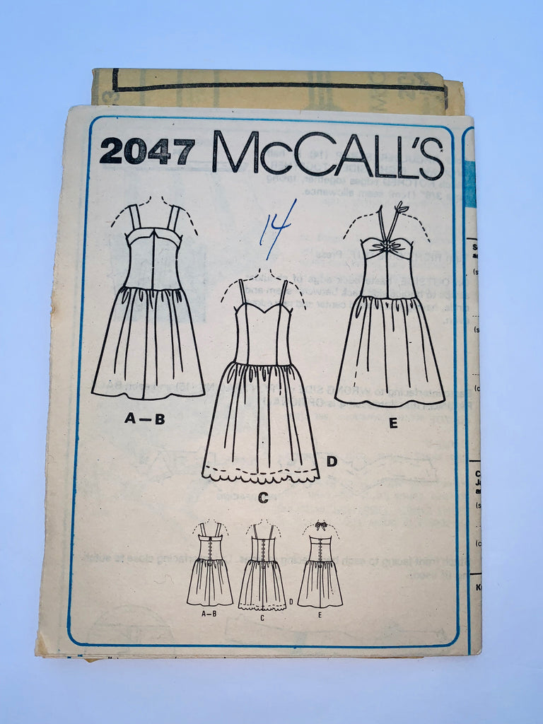 Vintage dress pattern McCalls 2047