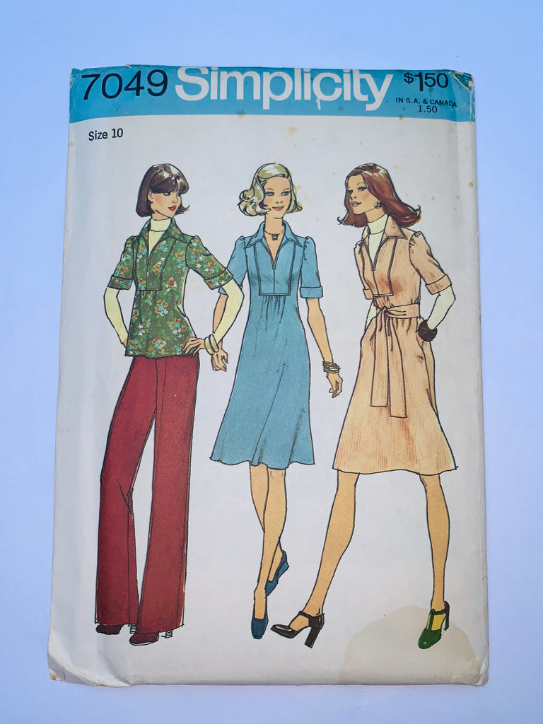 Vintage dress sewing pattern Simplicity 7049