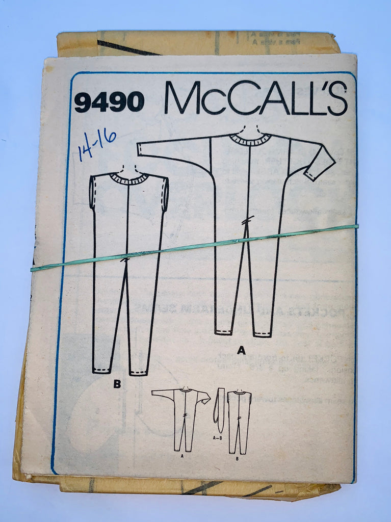 Vintage boys pajama sewing pattern McCalls 9490
