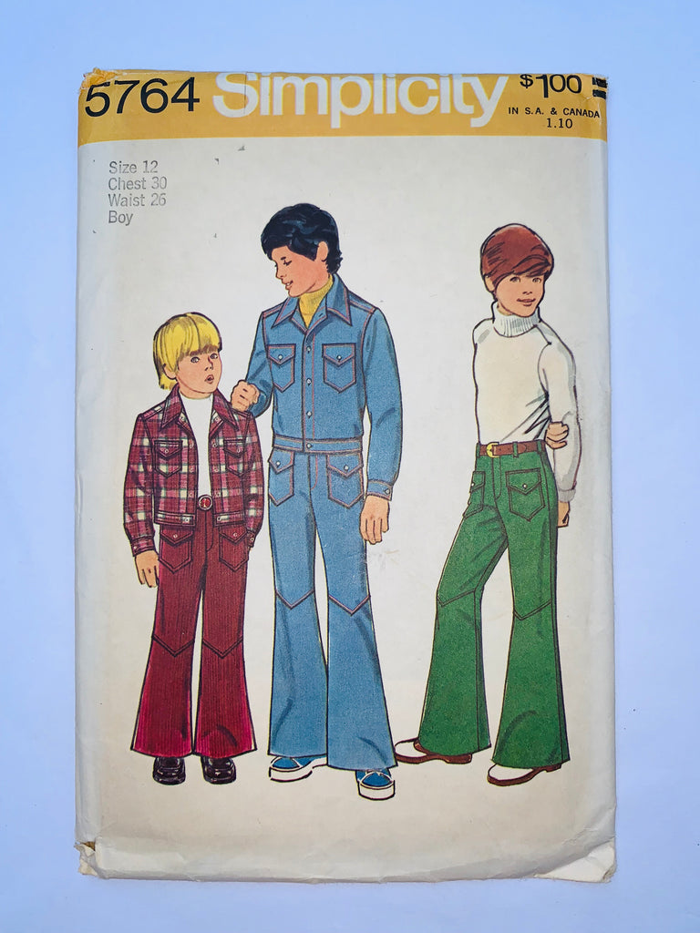 Vintage boys pant & top sewing pattern Simplicity 5764