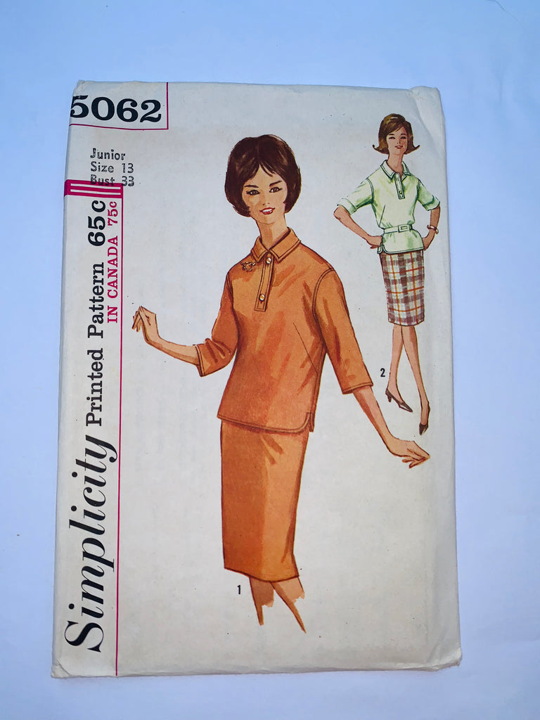 Vintage 1960s sewing pattern