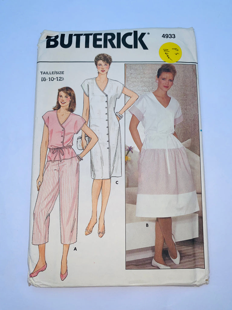 Vintage shirtdress sewing pattern Butterick 4933