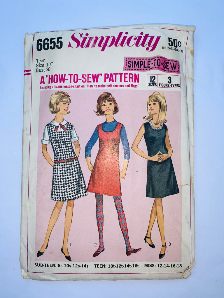 Vintage dress sewing pattern Simplicity 6655