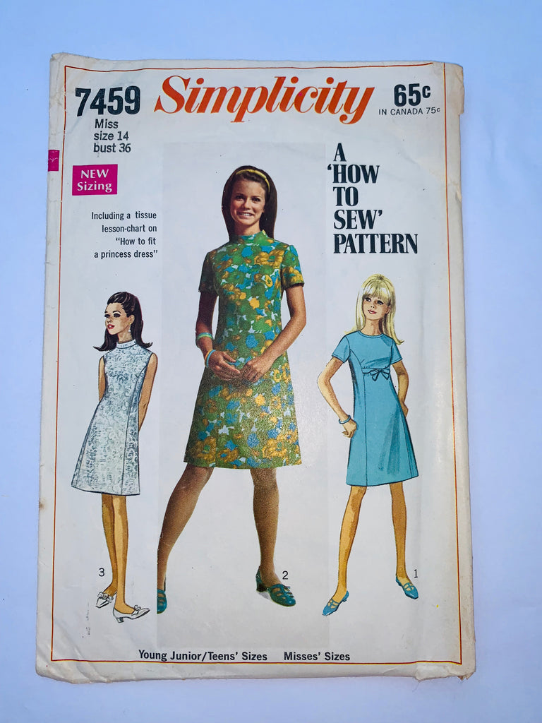 Vintage dress sewing pattern Simplicity 7459