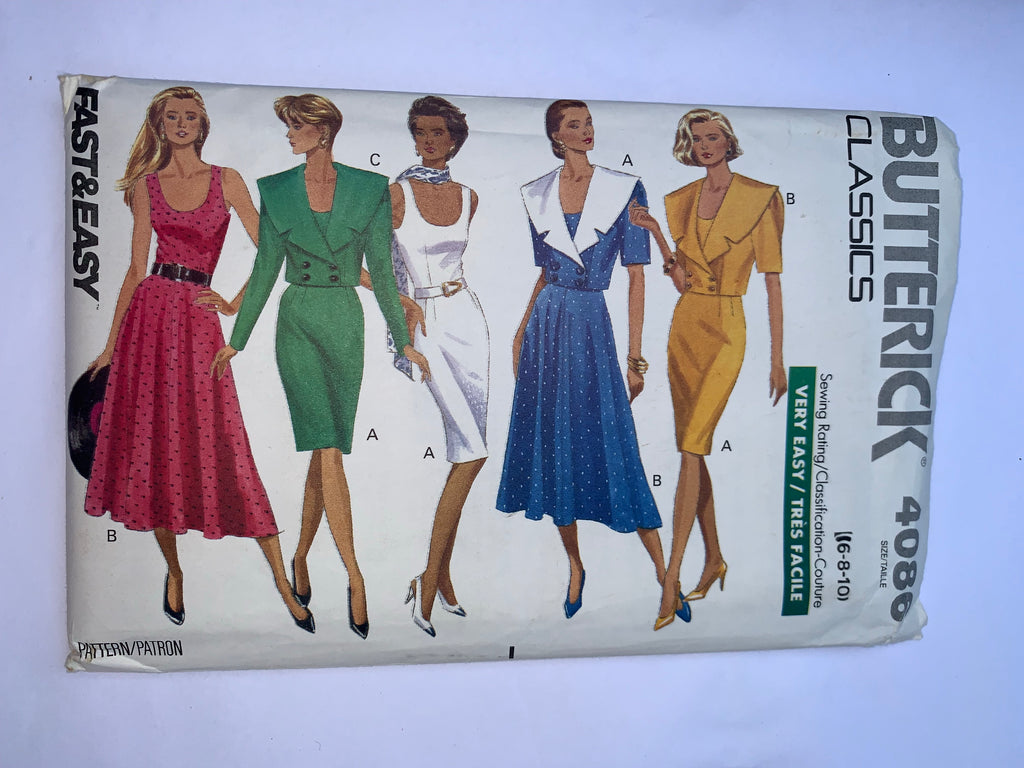 Vintage dress sewing pattern Butterick 4086