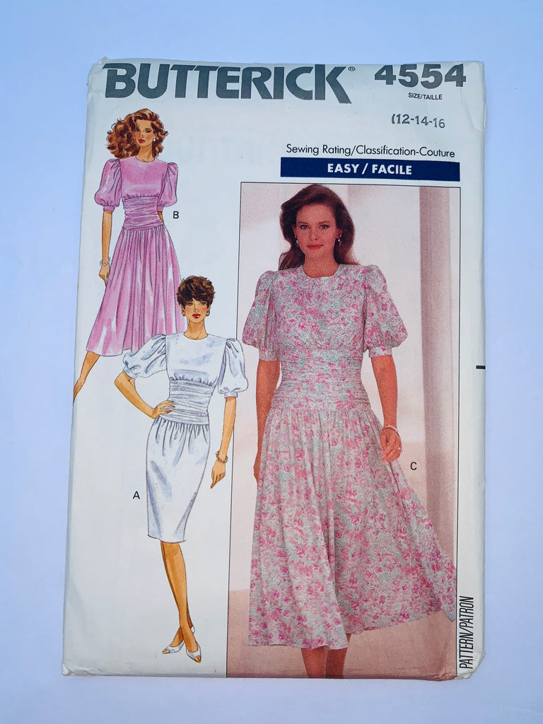 Vintage dress sewing pattern Butterick 4554