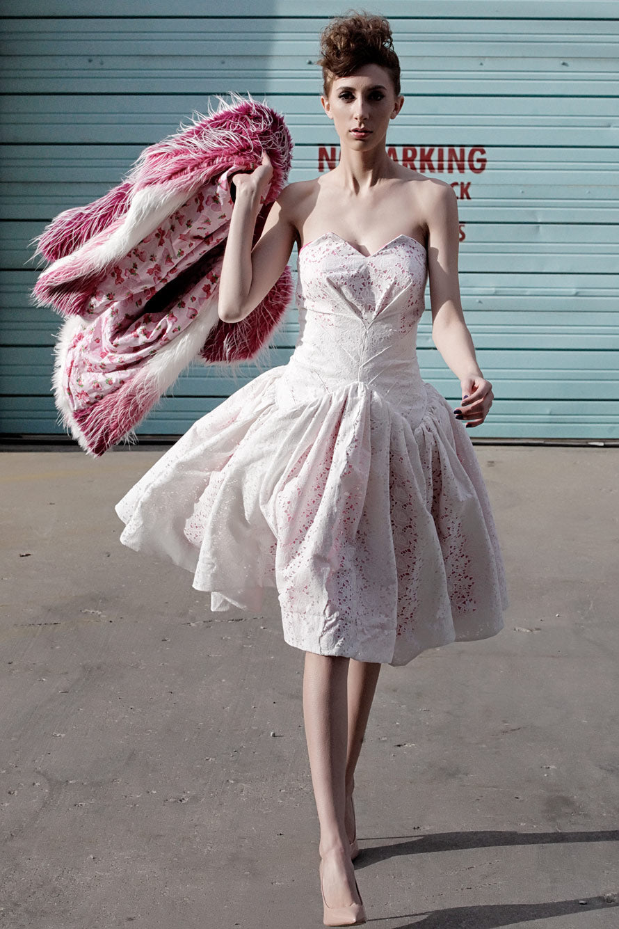 4f7c1dba8bf9 White Lace Dress With Hot Pink Stain