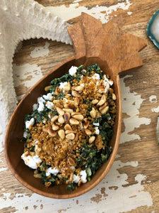 KALE SALAD RECIPE FEATURING KELLY'S CHEEZY PARM