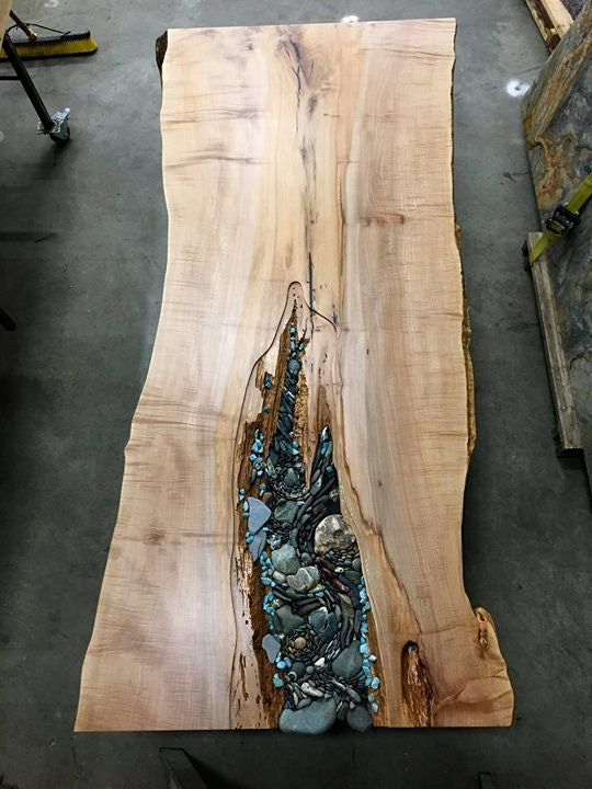 SOLD Ancient Live Edge Dining Table