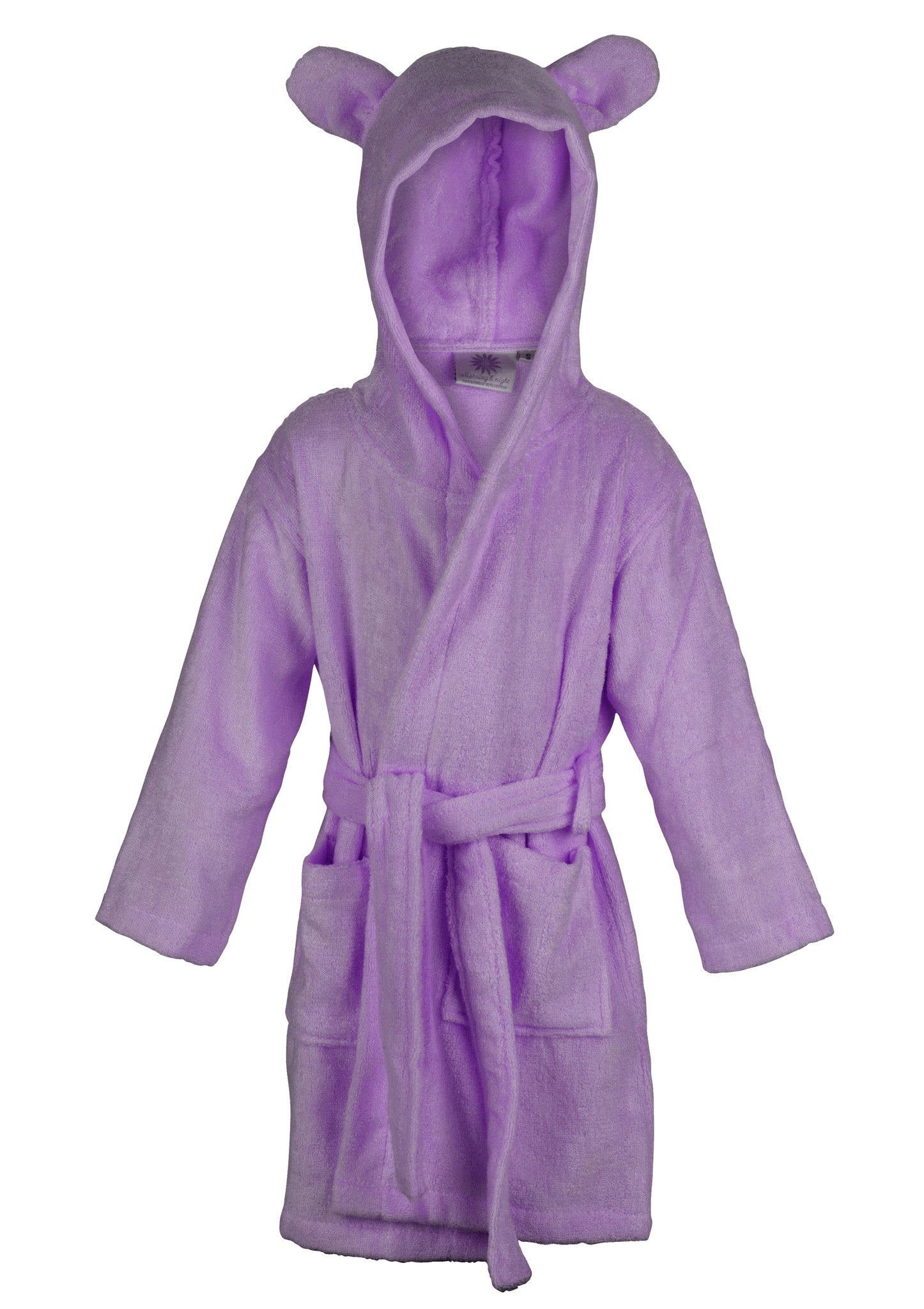 brown 70 bamboo hooded baby bathrobe with ears morning and night