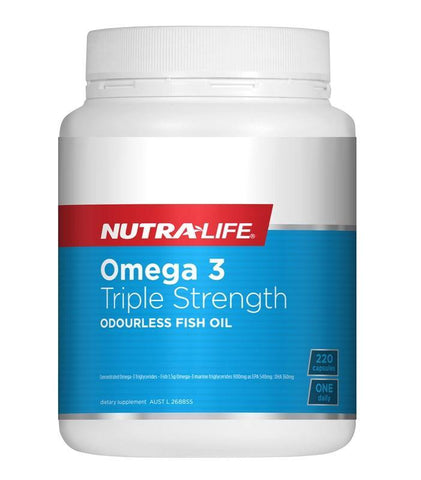 NUTRALIFE OMEGA 3TRIPLE STRENGTH FISH OIL