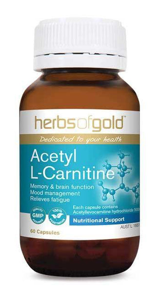 HERBS OF GOLD ACETYL L CARNITINE