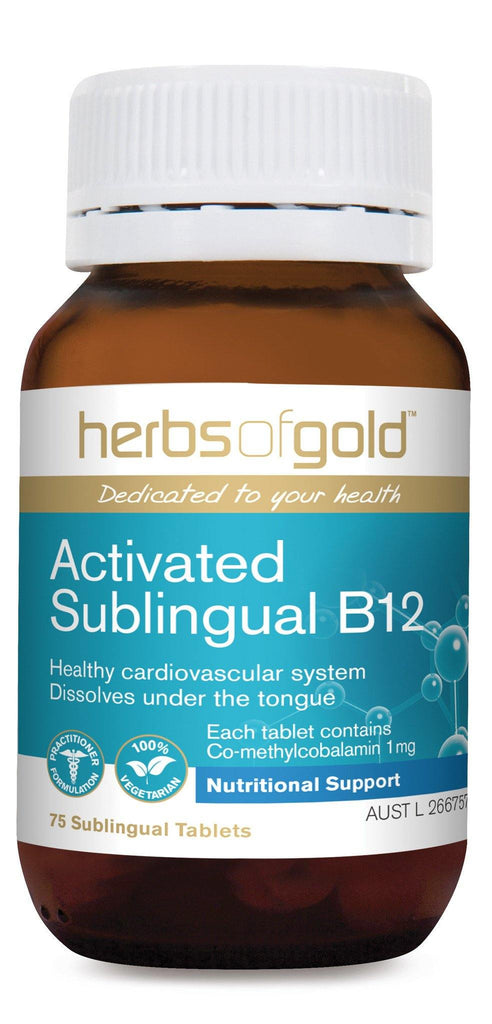 HERBS OF GOLD ACTIVATED SUBLINGUAL B12