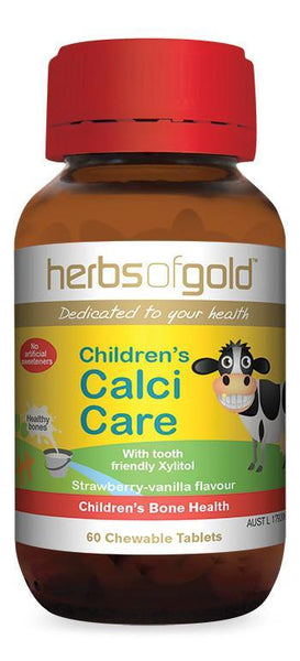HERBS OF GOLD CHILDREN'S CALCI CARE (CHEWABLE)