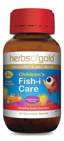 HERBS OF GOLD CHILDREN'S FISH-I CARE (CHEWABLE)