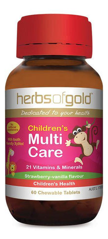 HERBS OF GOLD CHILDREN'S MULTI CARE (CHEWABLE)