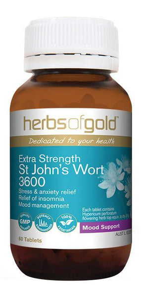 HERBS OF GOLD EXTRA STRENGTH ST JOHN'S WORT 3600