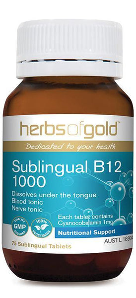 HERBS OF GOLD SUBLINGUAL B12 1000