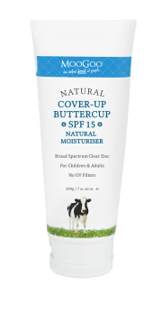 MOOGOO COVER-UP BUTTERCUP SPF15 NATURAL MOISTURISER