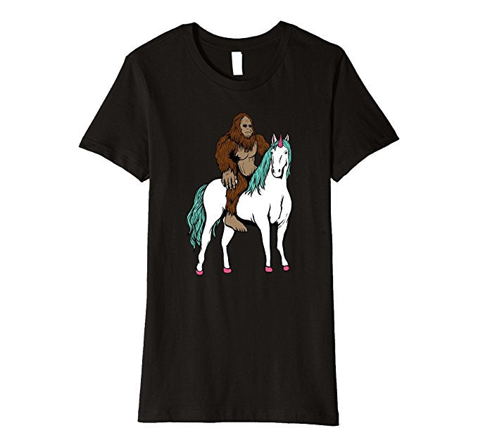 Big Foot Riding A Unicorn Shirt