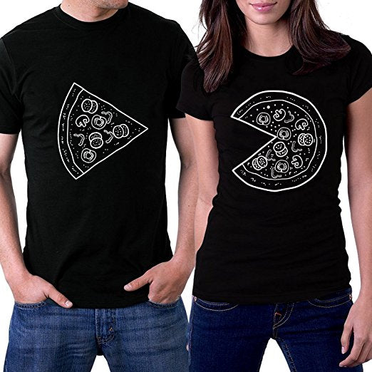 Matching Pizza Couples Shirt
