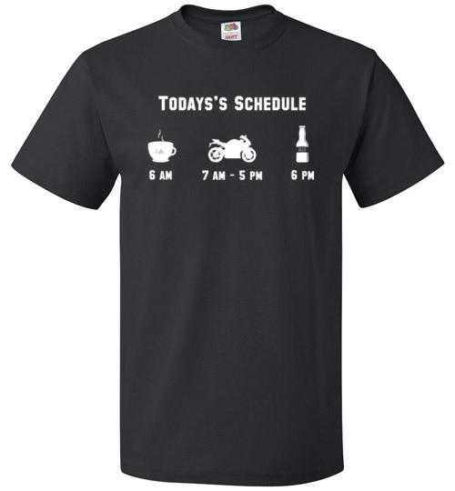 Today's Schedule Biking Shirt