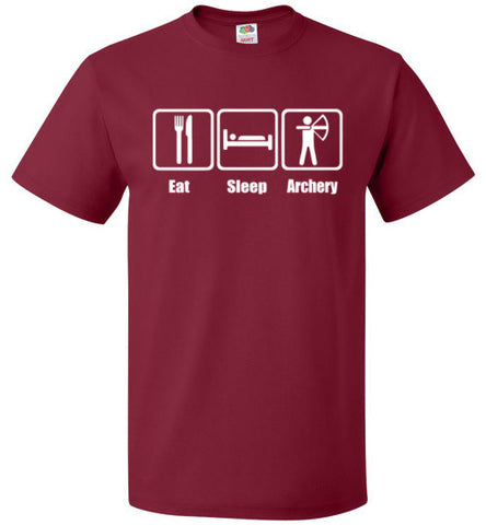 Eat Sleep Archery Shirt Funny Archer Bow Arrow Tee - oTZI Shirts - 2