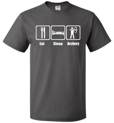 Eat Sleep Archery Shirt Funny Archer Bow Arrow Tee - oTZI Shirts - 3
