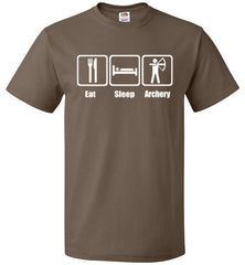 Eat Sleep Archery Shirt Funny Archer Bow Arrow Tee - oTZI Shirts - 4