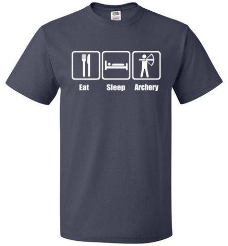 Eat Sleep Archery Shirt Funny Archer Bow Arrow Tee - oTZI Shirts - 5