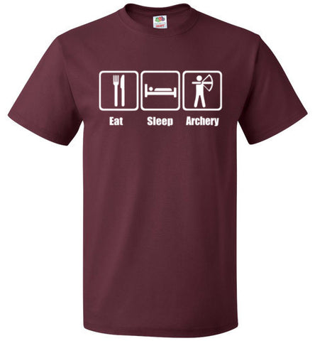 Eat Sleep Archery Shirt Funny Archer Bow Arrow Tee - oTZI Shirts - 6