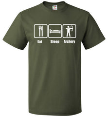 Eat Sleep Archery Shirt Funny Archer Bow Arrow Tee - oTZI Shirts - 7