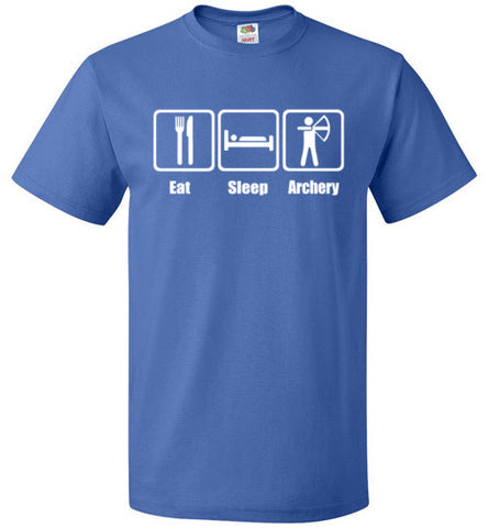 Eat Sleep Archery Shirt Funny Archer Bow Arrow Tee