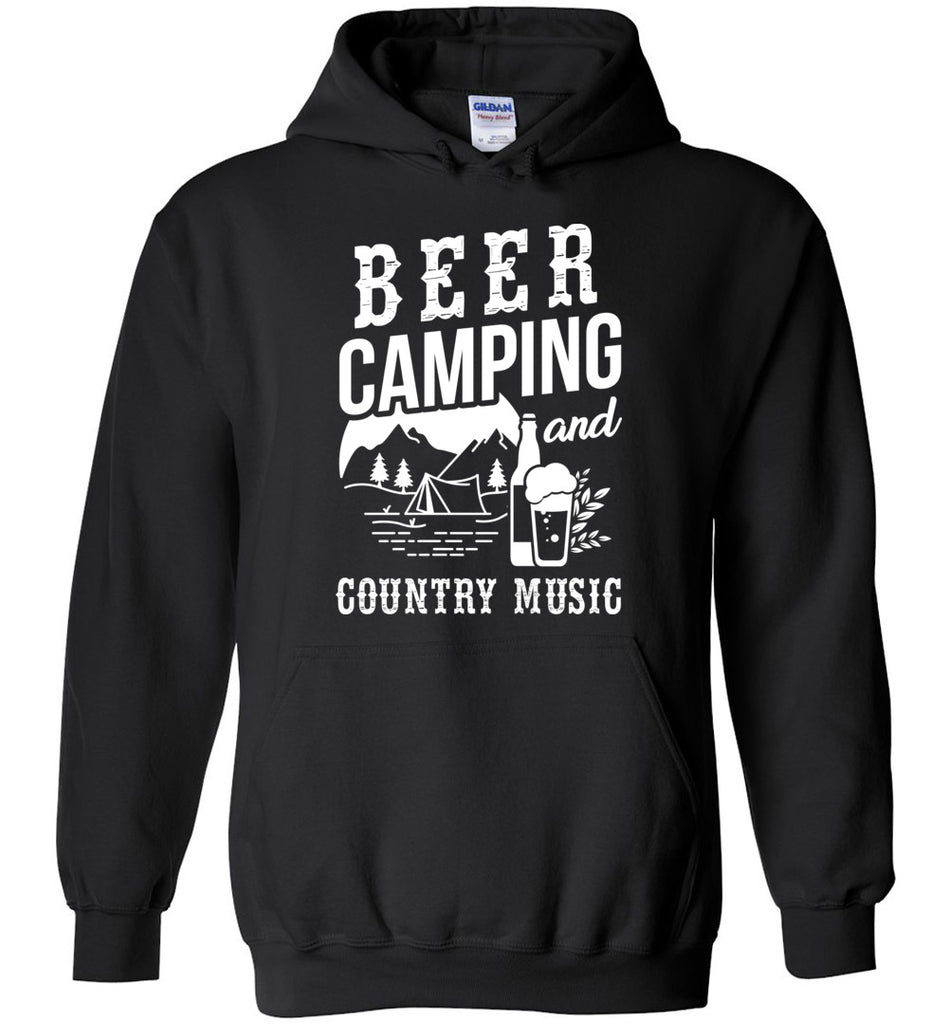 Beer Camping And Country Music Hoodie