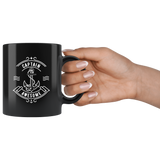 Captain Awesome 11oz Black Mug