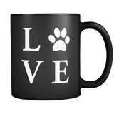 Love Dogs Black Mug