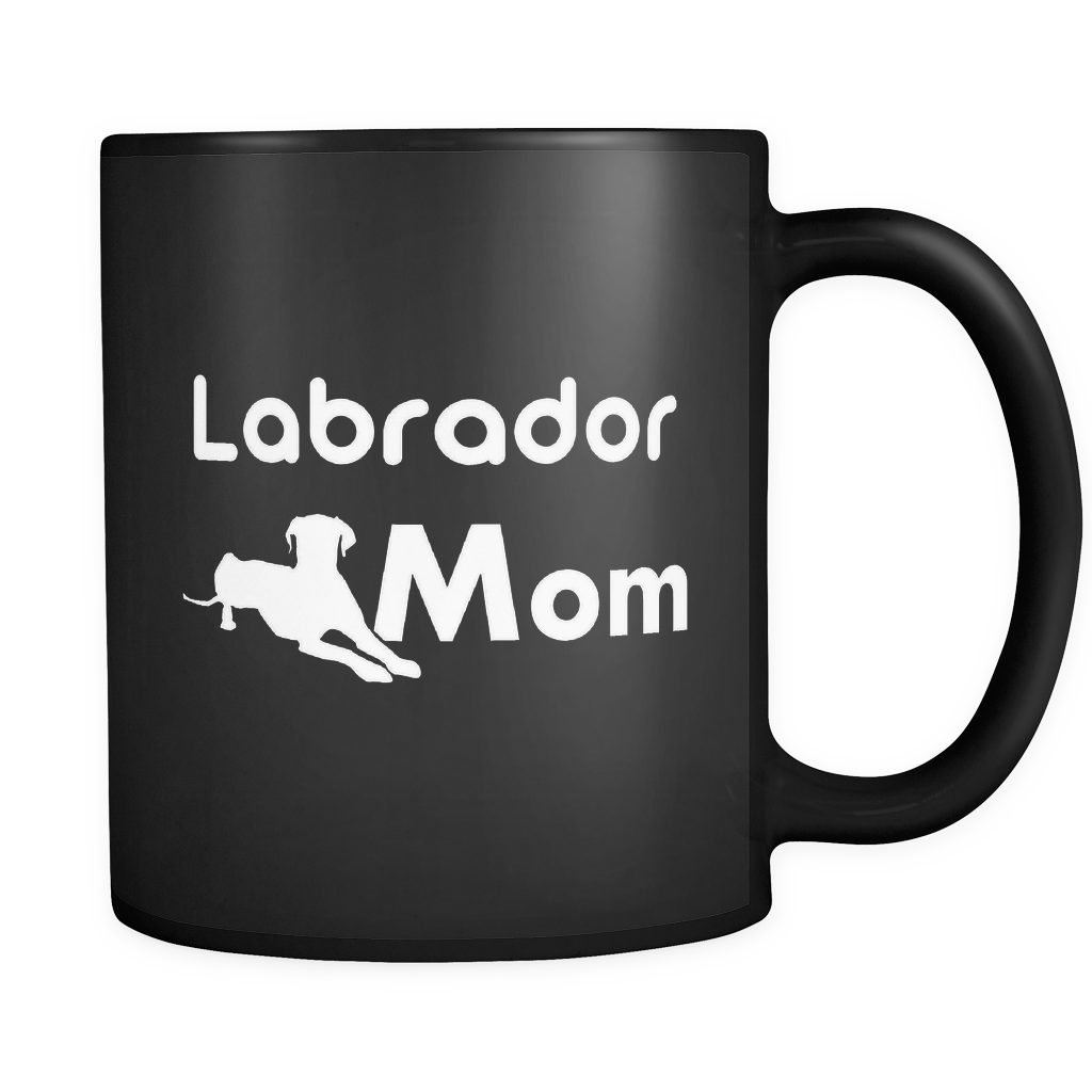 Labrador Mom Black Mug